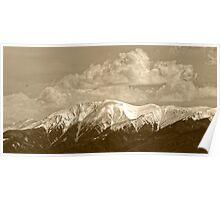 Fagaras mountains Romania, Carpathian Mountains Poster