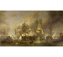 The Battle of Trafalgar, 21 October 1805. by William Clarkson Stanfield in 1836 Photographic Print