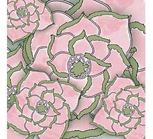 Pink Flower Collage Pattern Photographic Print