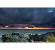 Stormy Sunrise Louisbourg Nova Scotia Canada Photographic Print