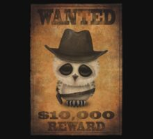 Cute Baby Owl Cowboy Vintage Wanted Poster Kids Clothes