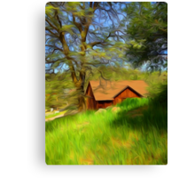 Hidden Cabin Canvas Print