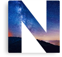 The Letter N - night sky Canvas Print