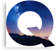 The Letter Q - night sky Canvas Print
