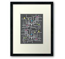 Return Of The Retro Video Games Circuit Board Framed Print