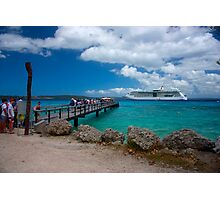 Radiance of the Seas, Lifou Photographic Print
