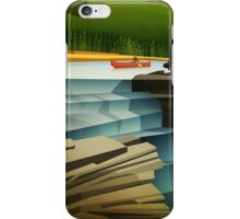 A quiet day on the river is about to get interesting iPhone Case/Skin