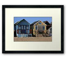 Beach Huts Framed Print