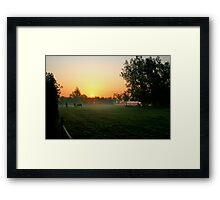 Sunrise over Horses Framed Print
