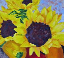 Sunflowers with Peppers by RebeccaW