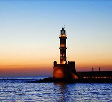 sunset in Chania, Crete by Andrea Rapisarda