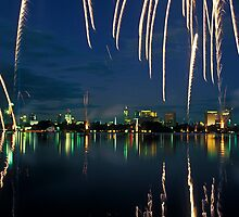 Fireworks over Albert Park Lake by Yanni