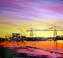 Transporter Bridge Middlesbrough by wendythompson