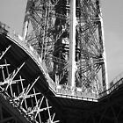 Eiffel Tower Close up by David Morgan