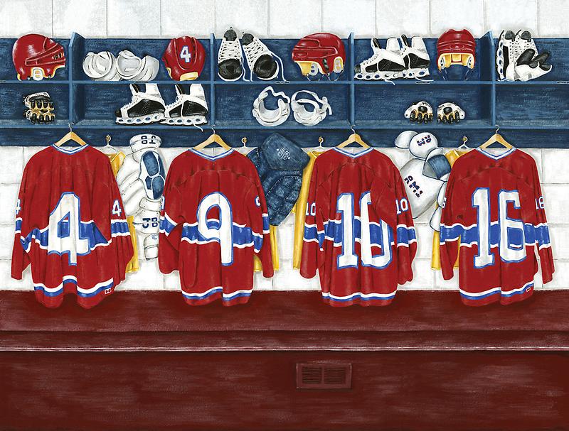 """""""Canada""""  Hockey locker room   by RuthBaker"""