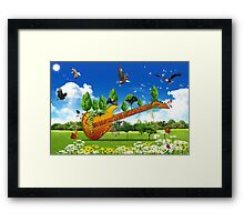 Guitard Framed Print
