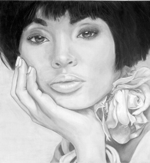 African Queen - Pencil by Susan van Zyl
