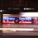Chateau Tanunda sign, St James station by Chen Lim