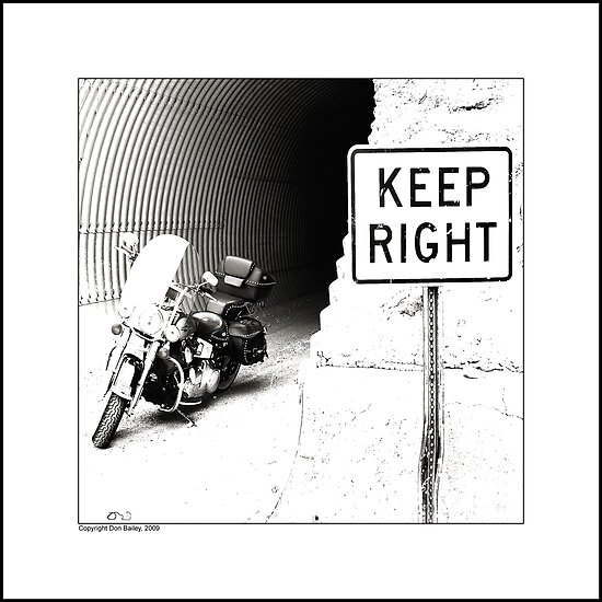 """Keep Right"" by Don Bailey"