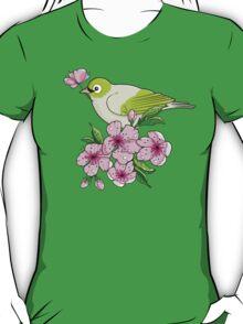 White-eye and sakura blossom - T-shirt T-Shirt