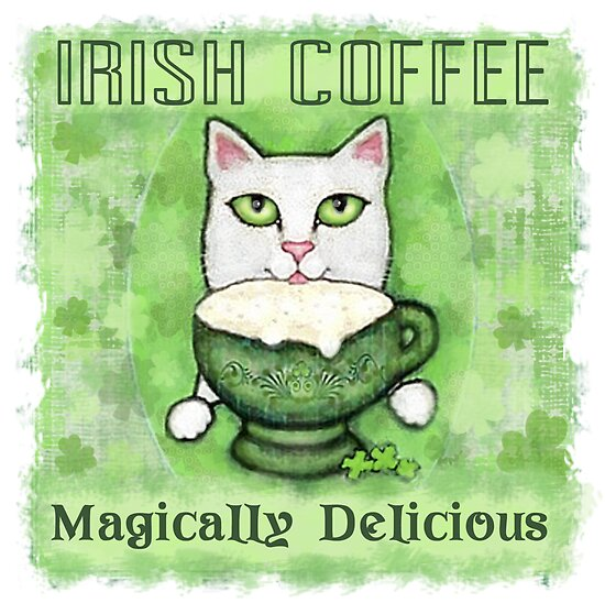 Irish Coffee Cat by Jamie Wogan Edwards