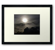 The Sun and the Storm Framed Print