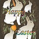 Happy Easter Rabbit (white) by Terri Chandler