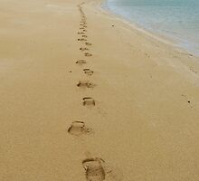 Lonely Footprints by thebeachdweller