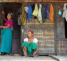 Mising tribe women, Assam, India by John Mitchell