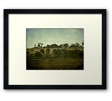 Working on the Land Framed Print