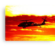 Avalon Airshow - Highrise Copter Canvas Print