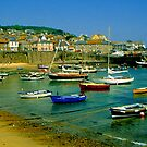 Mousehole Harbour by Nancy Barrett