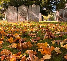 Autumn leaves at St. Nicholas at Wade by Geoff Carpenter
