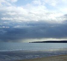 Rain on Sandbanks by Sarah Ellender