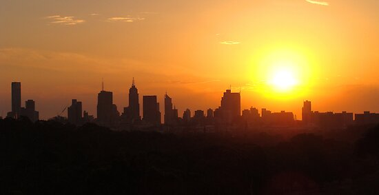 Sunset over Melbourne 3 by Paige