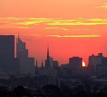 Sunset over Melbourne 10 by Paige
