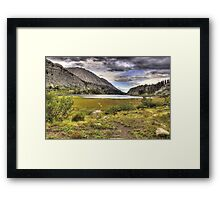 The Shores of Long Lake Framed Print