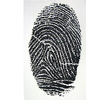 Fingerprint Photographic Print