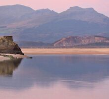 Snowdonia from Borth Y Gest beach. by Dale North Photography