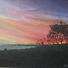 Sunset Aireys Inlet Lighthouse - Acrylic by Ken Tregoning