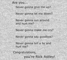 Are you Rick Astley? by eatsleepwrite
