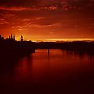 Sunset Inverness Scotland by jacqi