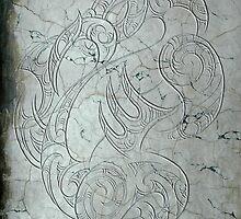 Manaia on Marble by Revolution Aotearoa