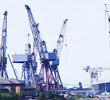 Cranes over the Clyde by Matthew Colvin de Valle