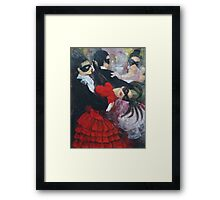 Romance in the waltz steps (1) Framed Print