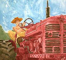 A man and his tractor by Tom Wrenn