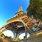 Eiffeltower's right leg by Dominic Kamp