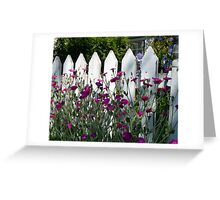 Old Fashioned Picket Fence Greeting Card
