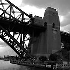 Sydney Harbour Bridge BW by sarahncraig