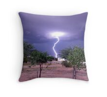 Monsoon Strike Throw Pillow